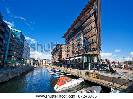 Oslo Norway. Wide angle view. - stock photo