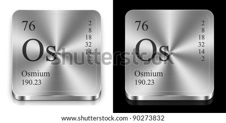 Osmium element periodic table two steel stock illustration 90273832 osmium element of the periodic table two steel web buttons urtaz Choice Image