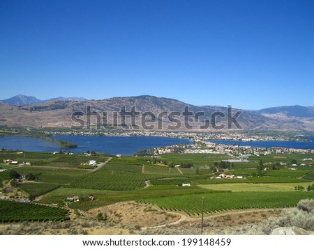 Osoyoos lake - stock photo