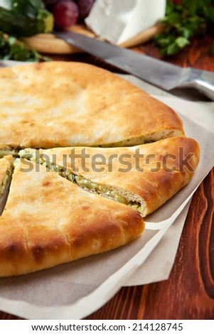 Ossetian Pie with Cheese and Potato