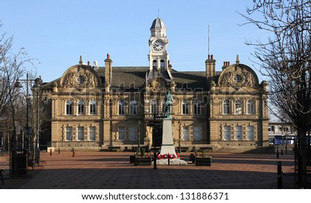 Ossett Town Hall near Wakefield West Yorkshire
