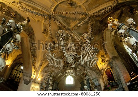 ossuary - stock photo