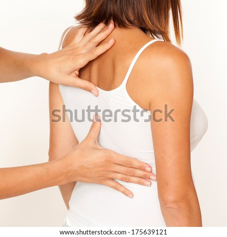 osteopathy - stock photo