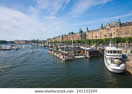Ostermalm view, Stockholm - stock photo