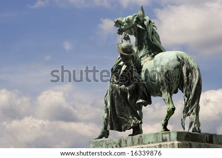 ostler from Hungary - statue in castel in Budapest