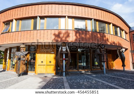 Ostrava, Czech Republic - July 21, 2016: Puppet Theatre, Entrance