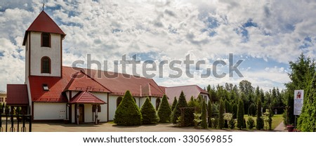 OSTRODA, POLAND - JUNE 7: Calvary Parish of St. Faustina Kowalska in Ostroda, Poland on June 7, 2015