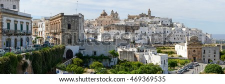 Ostuni, Italy - 21 June 2016: Ostuni the white town of Puglia on south Italy