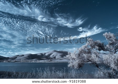 Otay Lakes in Infrared