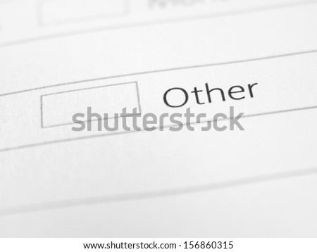 OTHER printed on a form close up - stock photo