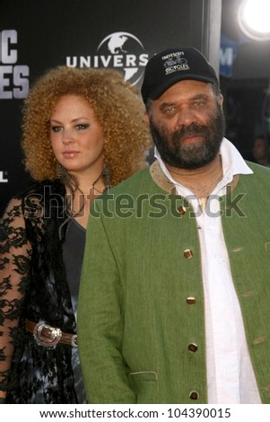 Otis Taylor and daughter  at the Los Angeles Premiere of 'Public Enemies'. Mann Village, Westwood, CA. 06-23-09