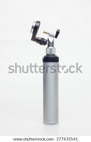 Otoscope with handle - stock photo