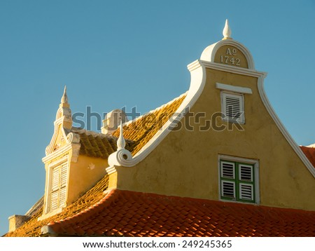 Otrobanda a suburb of Willemstad Curacao   in the Dutch Antilles a Caribbean Island - stock photo