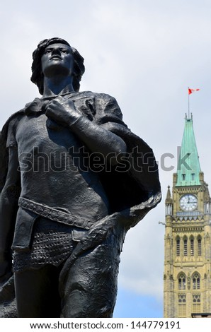 OTTAWA CANADA JUNE 30: A Canadian journalist and civil servant, Henry Albert Harper was best known as a friend of future Prime Minister William Lyon Mackenzie King. On june 30 2013 in Ottawa Canada. - stock photo