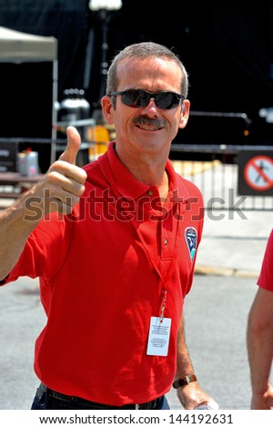 OTTAWA - JUN 30:  Recently retired International Space Station Commander Chris Hadfield gestures as he attends Canada Day Celebration rehearsals on Parliament Hill Jun 30, 2013 in Ottawa, Ontario, Canada. - stock photo