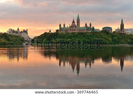 Ottawa morning - stock photo