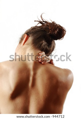 ouch - stock photo