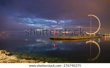 Ouchy Port at Lausanne. - stock photo