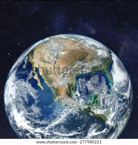 Our beautiful earth in cosmos. Elements of this image furnished by NASA - stock photo