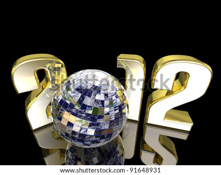 Our Changing World - 2012 New Year Disco Earth Ball with reflections. Happy New Year.