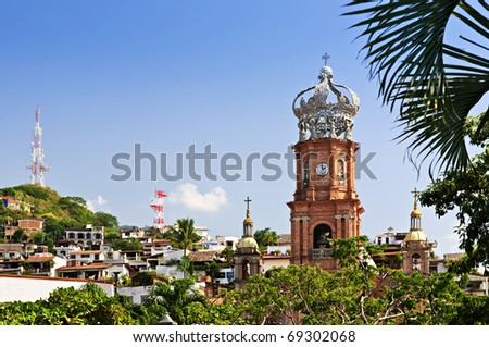 Our Lady of Guadalupe church in Puerto Vallarta, Jalisco, Mexico - stock photo