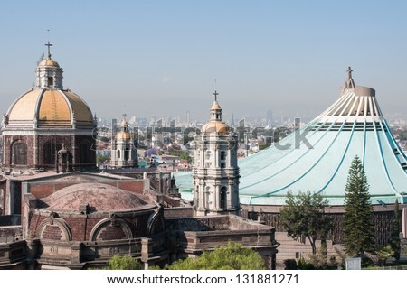 Our Lady of Guadalupe in Mexico city - stock photo