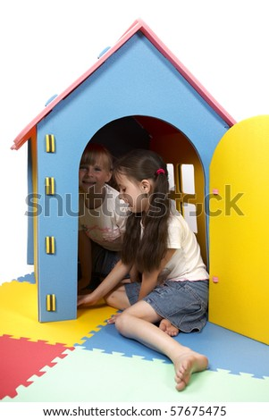 Our new house, mom! - stock photo