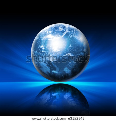 Our own Earth. Symbol of environmental protection - stock photo