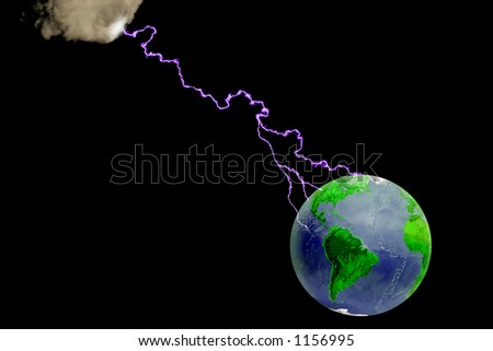 Our planet facing problems - stock photo
