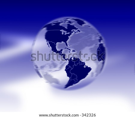 our planet in rotation - stock photo