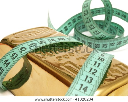 Our size is gold - stock photo