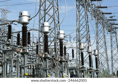 Out door switch gear and its equipment - stock photo
