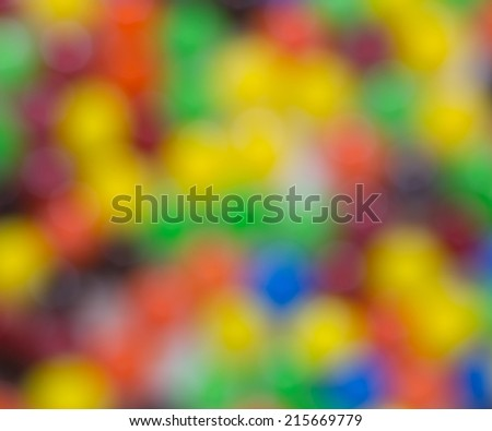 Out focus of Candy as Background