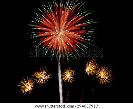 Out of Focus/Artistic Fireworks - stock photo