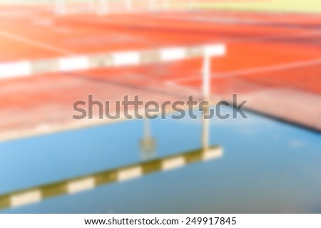 Out of focus Background - Black and white hurdles - stock photo