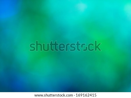 Out of focus blue and green background - stock photo