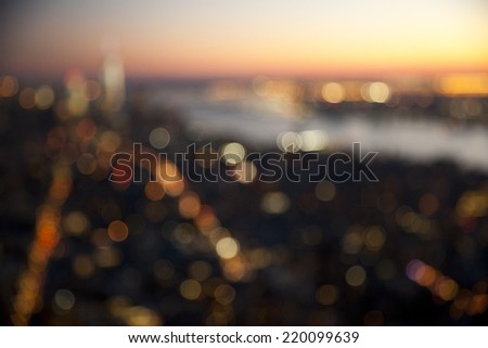 Out of focus bokeh lights.  Great for backdrop or background. - stock photo