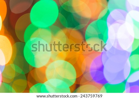 Out of focus Christmas light Abstract Background