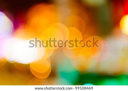 Out of focus color lights background - stock photo