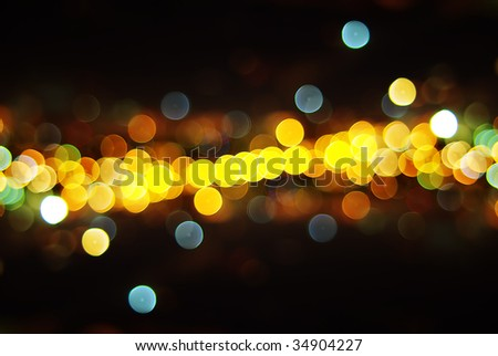 Out of Focus Lights during the Night, - stock photo