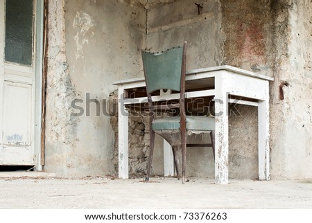 out of order desk - stock photo