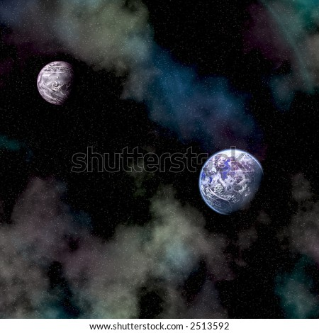 out of space concept - stock photo