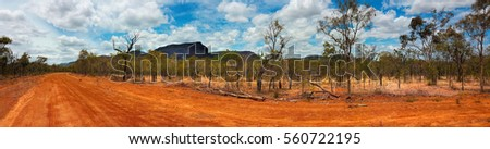 outback landscape of Australia in the dry season panorama view