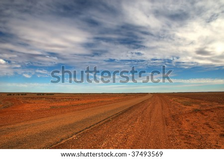 outback track near Birdsville, Queensland (Australia) - stock photo