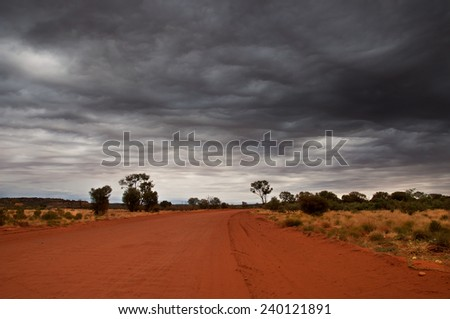 Outback Travel, Red Center, Australia - stock photo