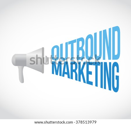 outbound marketing megaphone message concept illustration design graphic - stock photo