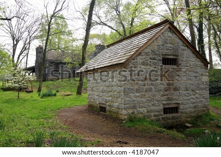 Outbuildings on President Andrew Jacksons estate in Nashville