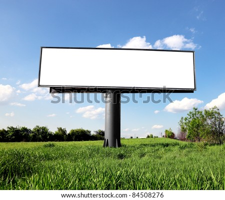 Outdoor advertising billboard - stock photo
