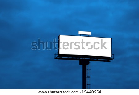 Outdoor advertising billboard, add your text or image on the empty space - stock photo