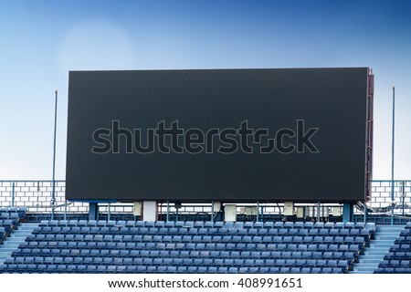 Outdoor Advertising Billboard LED for advertising in stadium - stock photo